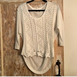 Anthro | Moth Open Weave Sweater Off-White…